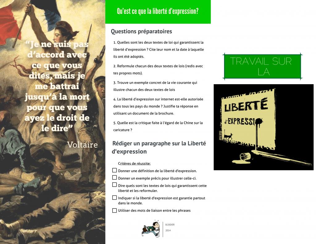 Liberté d'expression - Front-Back