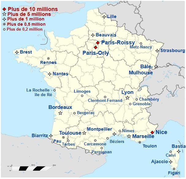 carte des aéroports en france carte aeroports france   HG 2.0