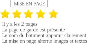 evaluation brochures mise en page